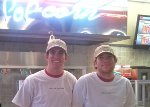 Doug and Cannon sporting both LIP Life Is Precious tshirts and hats